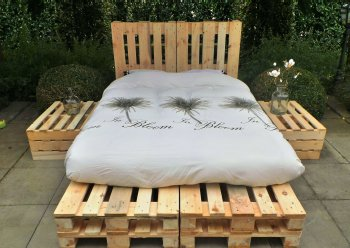pallet bed 2 persoons foto 1
