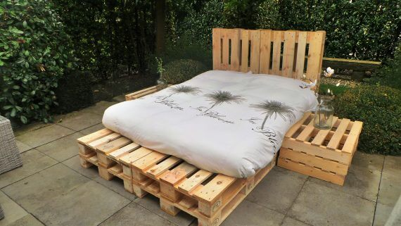 pallet bed 2 persoons foto 3